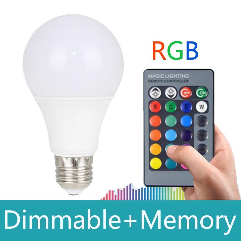 2018 Innovative item RGB LED Lamp 10W E27 RGB Bulb led spot light 110V 220V Remote Control 16 Color Lampada LED Luz with memory