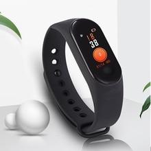 Купить с кэшбэком M3 Smart Bracelet Bluetooth Heart Rate Monitor Blood Pressure Sport Fitness Tracker for Android IOS New Color Screen Smart Watch
