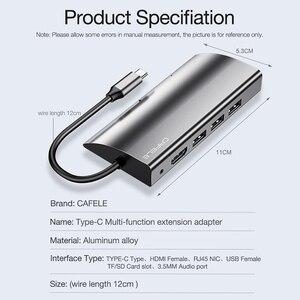 Image 4 - CAFELE Multifunctionele USB C HUB, type C naar Multi USB 3.0 HDMI Adapter Dock voor MacBook Pro Accessoires USB C Type C 3.1 Splitter