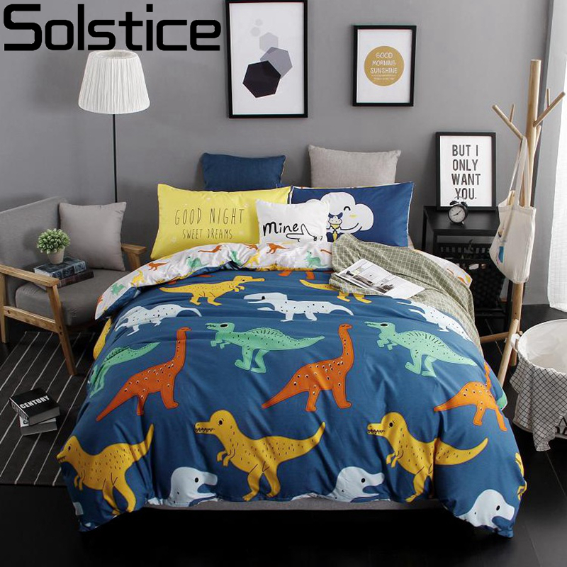 Solstice home textile children 39 s cartoon fashion color adult bedding sets double bed queen full for Full size bedroom sets for adults