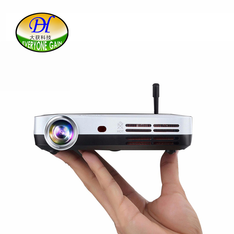 Everyone Gain Blu-Ray 3D Smart Android Projector WIFI BT DLP TV LED Home Theater Proyector With Touch button DH-A70 Beamer челюсти 3d blu ray