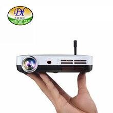 Todos Ganan DLP Blu-Ray 3D Proyector Inteligente Android WIFI BT TV LED Proyector de Cine En Casa con el botón Táctil A70 de Vídeo Beamer
