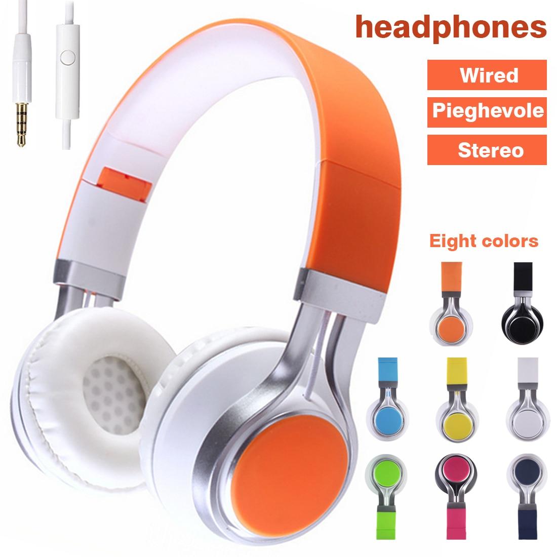 3.5MM Wired Mobile Phone Headphone Stereo Foldable Headset Earphone Earphones