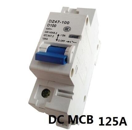 1P 80A 100A 125A DC Circuit Breaker ( DC MCB Mini Circuit breaker )FOR PV ( Solar ) system new ezd100e 3p 80a ezd100e3080n plastic breaker