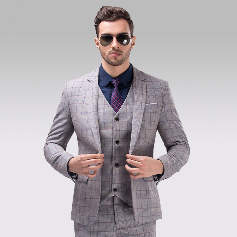 Men's Slim Fit 3-Piece Suit One Button Formal Business Wedding Party Blazers Vest Flat Front Pants Set. from $ 49 99 Prime. out of 5 stars * Choose between 2-piece and 3-piece versions * Pick a fit that conforms to your body shape and comfort requirements. Categories Amazon Fashion. Top Brands. Our Brands. Men. Clothing.