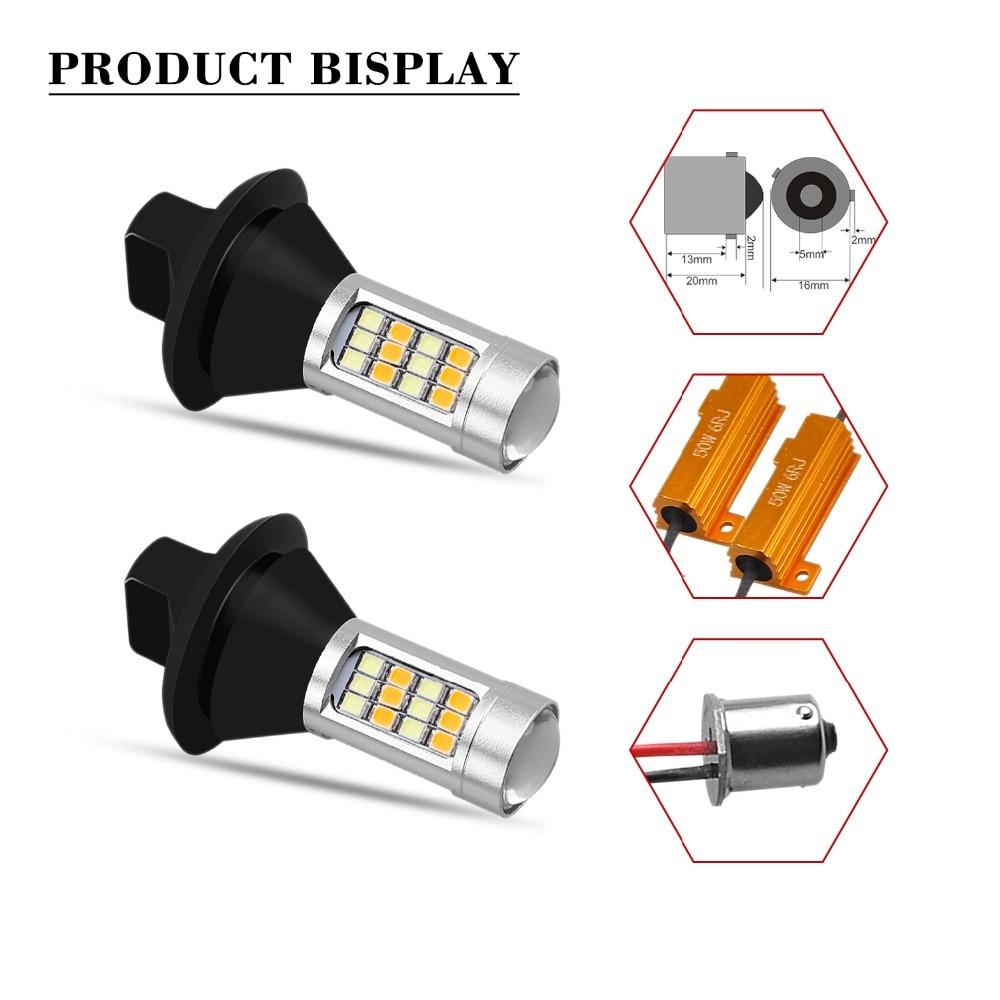 GEETANS 2pcs Bau15s Py21w 1156 1T20 7440 S25 42 LED DRL Svjetla za - Svjetla automobila - Foto 5