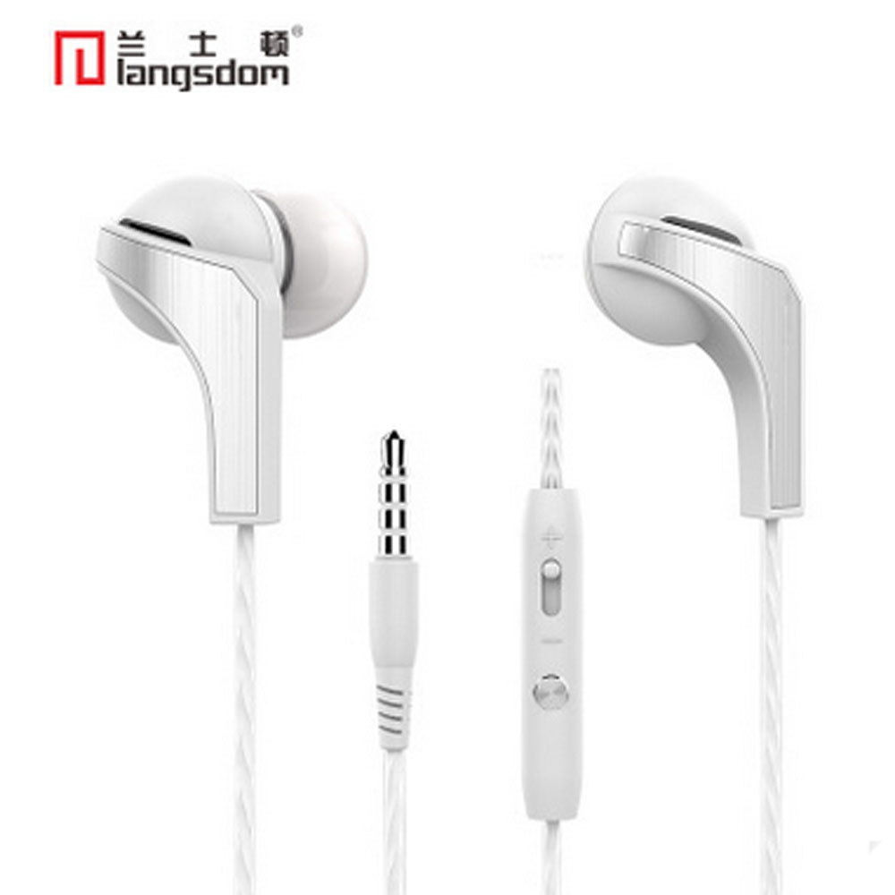 Langsdom earphone metal 3.5mm stereo bass in-ear earphones with mic for your phone mobile iphone 5 6 6S 7 Samsung mp3 player R29 vention vae t03 earphone 3 5mm in ear bass stereo earbud with remote mic for samsung mp3 player