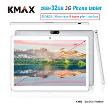 KMAX 10.1 inch 3G phone call Android Tablet 10 PC 2GB DDR3 32GB Quad Core Dual Cameras wifi phablet 7 8 9 Original case cheap