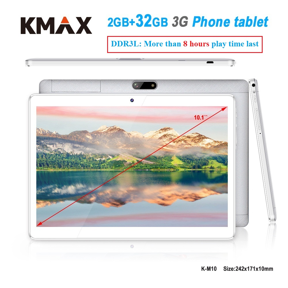 KMAX 10.1 inch 3G phone call Tablet pc 2GB 32GB RAM Quad Core Android 6.0 Dual Cameras wifi GPS Tablets 7 8 9 10 Original case lnmbbs metal new function tablet android 7 0 10 1 inch 1 gb ram 16 gb rom 8 core dual cameras 2 sims 3g phone call gps