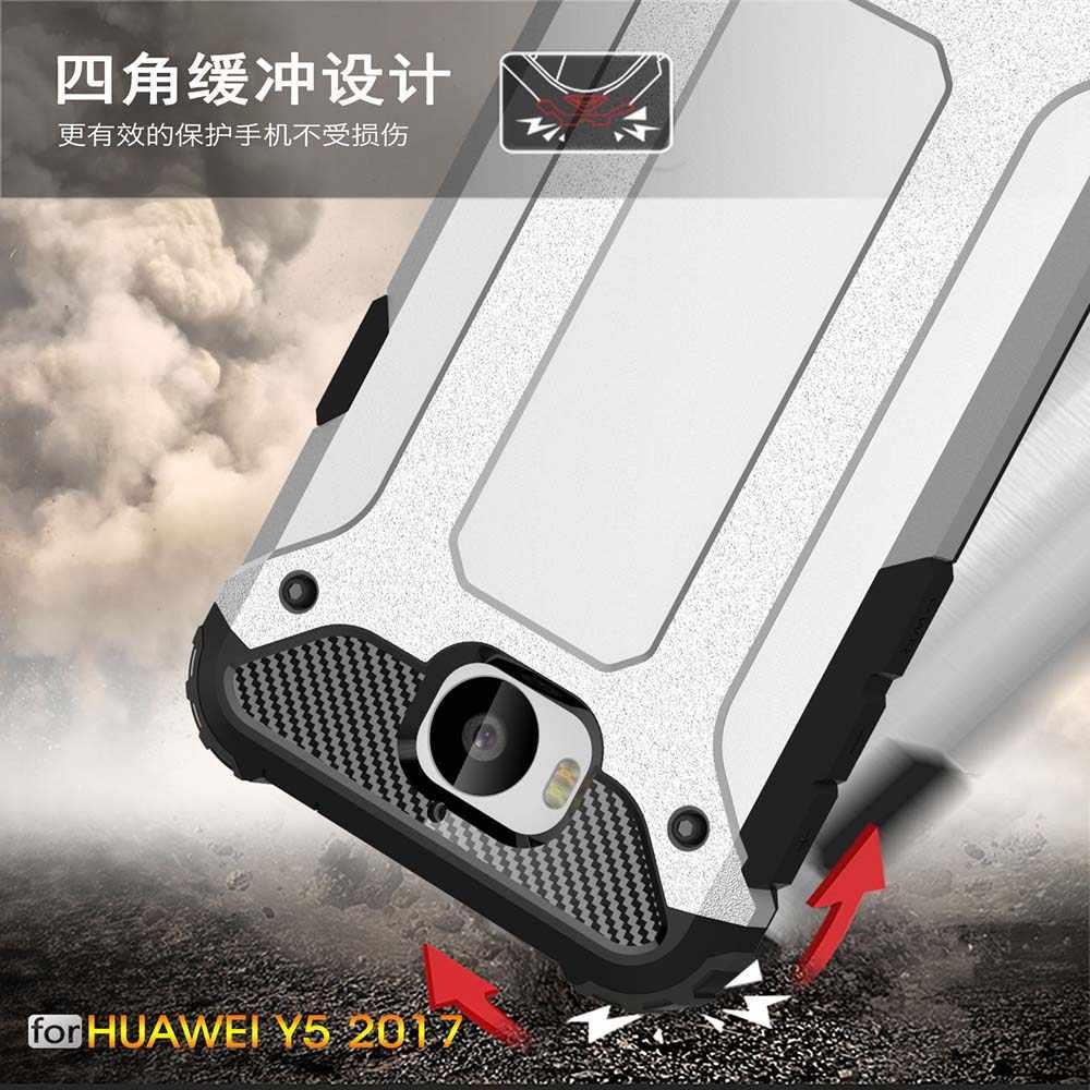 Armatura Coque Copertura 5.0For Huawei Y6 2017 Per Il Caso di Huawei Y6 Y5 2017 Nova Giovane Honor Gioco 6 III 3 caso Della Copertura Posteriore del telefono Coque
