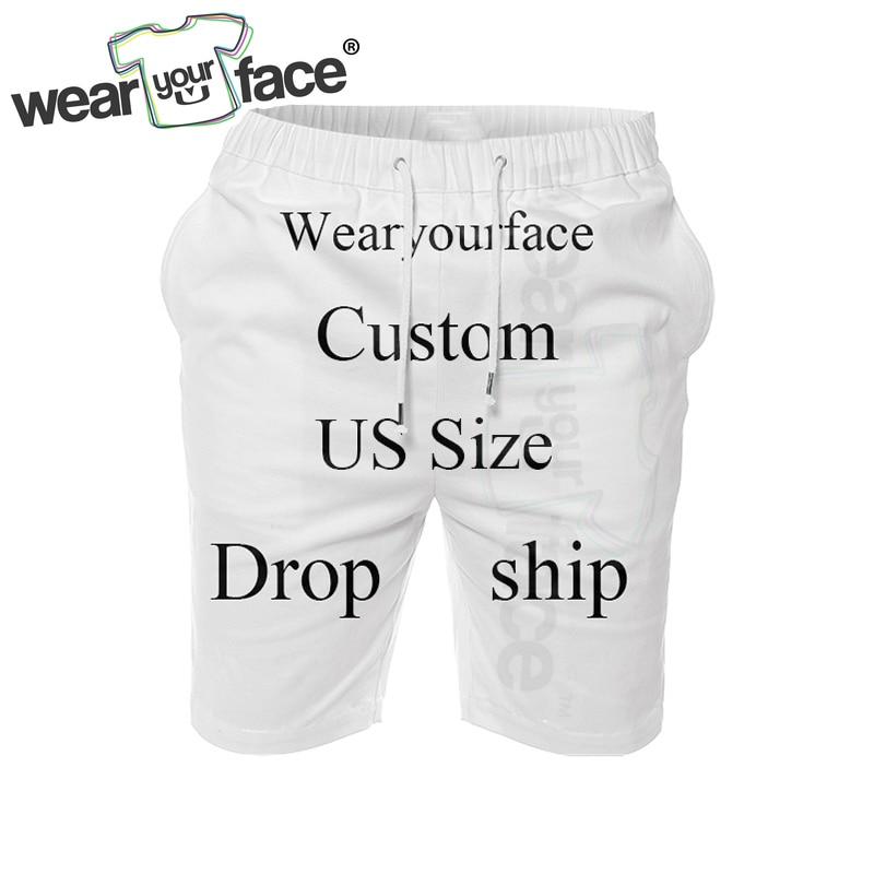 Custom Dropship US Size 3D All Over Printed Summer Shorts Fashion Mens Bermuda Short Men Homme Cargo Shorts