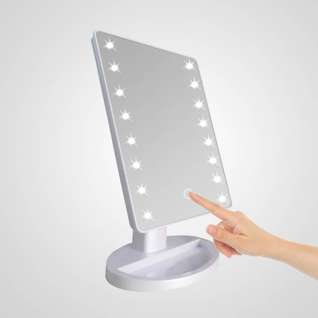Online Shop Cosmetic Makeup Mirror 16 Led Light Rotatable Touch