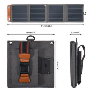 Image 3 - CHOETECH Solar folding Charger 14W USB Output Devices Portable Waterproof Solar Panels for iPad iPhone X XS samsung Smartphones