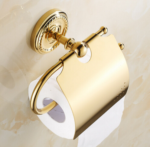 High Quality Classic Gold toilet paper holder copper paper towel holder tissue box bathroom hardware luxury paper roll holder серова м клад белой акулы