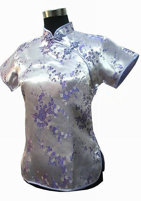 2014 Hottest Purple Chinese Women s Silk Tang Suit Jacquard font b Shirt b font Tops