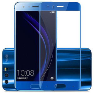 Image 5 - Full Cover Color Tempered Glass For Huawei honor 9 honor 9 Lite Honor9 9Lite Screen Protector Film Black White Blue Gray