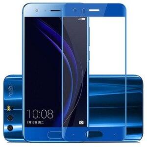Image 5 - Tam kapak renk temperli cam için Huawei onur 9 onur 9 Lite Honor9 9 Lite ekran koruyucusu filmi siyah beyaz mavi gri