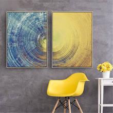 Современная Абстрактная текстура дзен рябь холст картина настенные картины для гостиной украшение картина круг плакаты a'r't принты