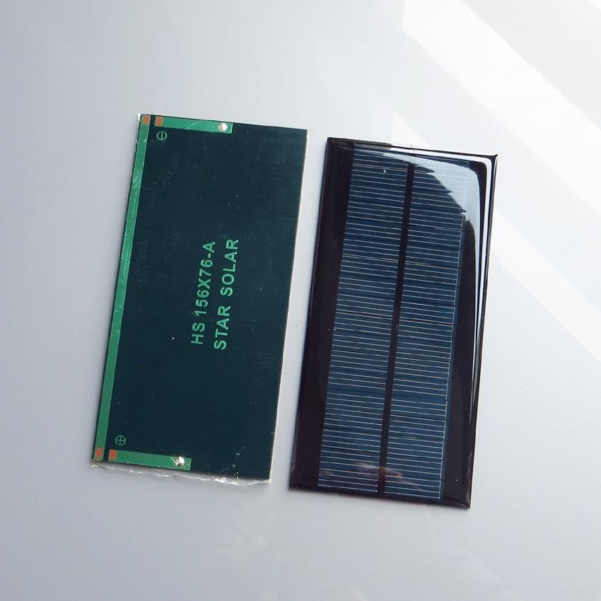 Module de générateur solaire polycristallin 9VDC   2 pièces x 9V 1.3W, module de cellules 9VDC, kit déducation chargeur de batterie
