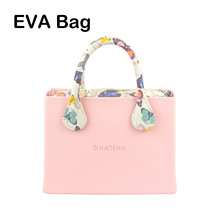 New huntfun Logo O Bag Style Rubber Silicon EVA Square Bag Floral Canvas Insert Handle Waterproof