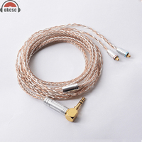 OKCSC 8 Core MMCX Kabel 7N Einzigen Kristall Überzogene Silber und Kupfer Upgrade Kabel für Shure SE846  SE535  SE315  SE215  UE900