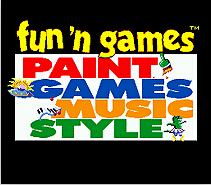 Funn Games Paint Games Music Style 16 bit MD Game Card For Sega Mega Drive For Genesis