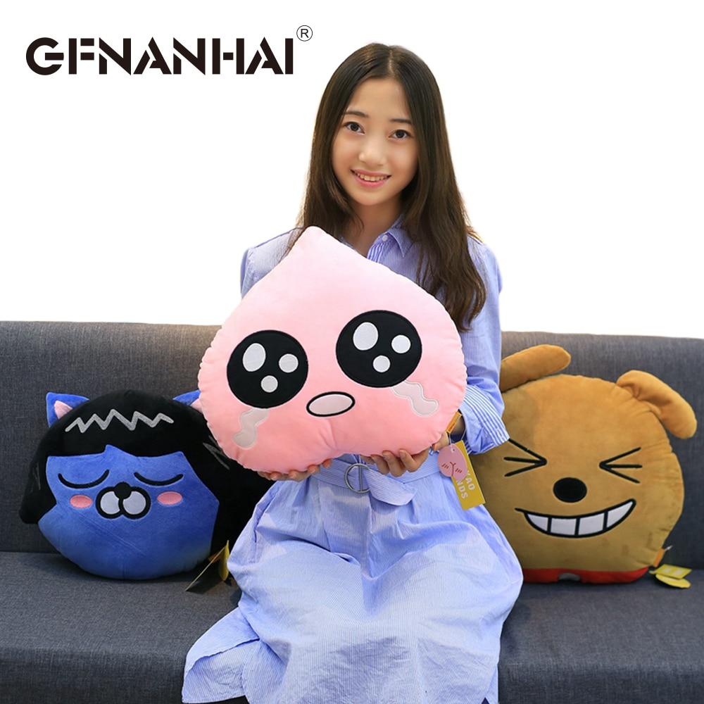 1pc 35cm cartoon Korean kakao friends plush pillow stuffed soft Ryan Cocoa frodotube apeach toys cushion for kids birthday gift недорго, оригинальная цена