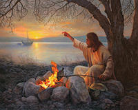 Christian Paintings Of Jesus Cast Your Nets On The Right Side Portrait Art High Quality Hand
