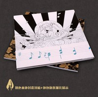 Hatsune Miku Coloring Book Secret Garden Style For Relieve Stress Kill Time Graffiti Painting Drawing Book