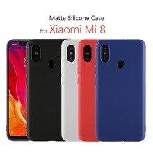"Xiaomi mi 8 case silicone cover 6.21"" Soft tpu case for Xiaomi mi 8 mi8 coque funda capa on black mobile phone bags hoesjes"