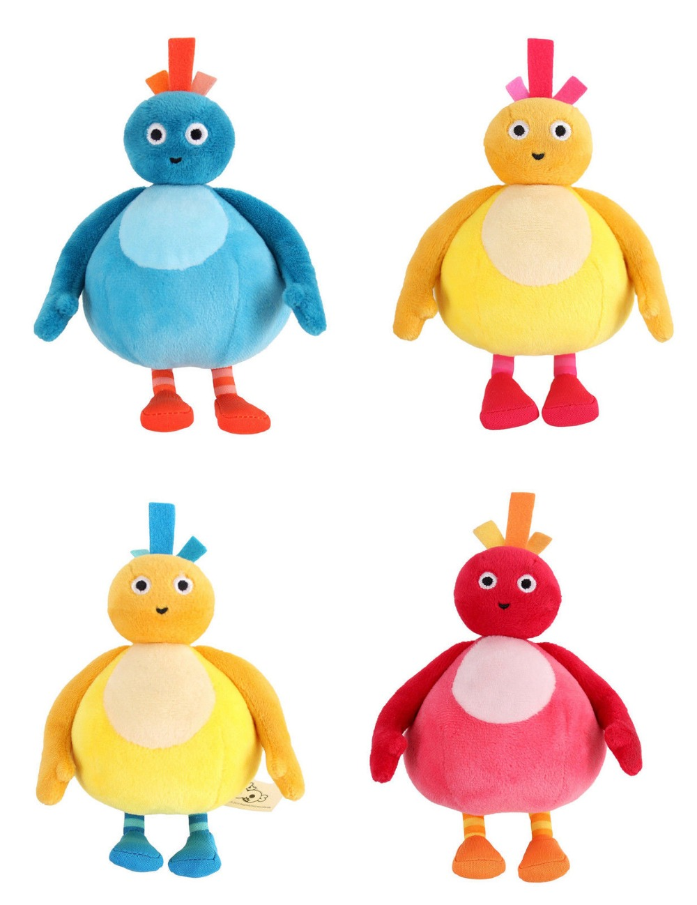 New Twirlywoos Plush Soft Toy Chick Toodloo Great Big Hoo Chickedy Peekaboo Set of 5 stuffed toy