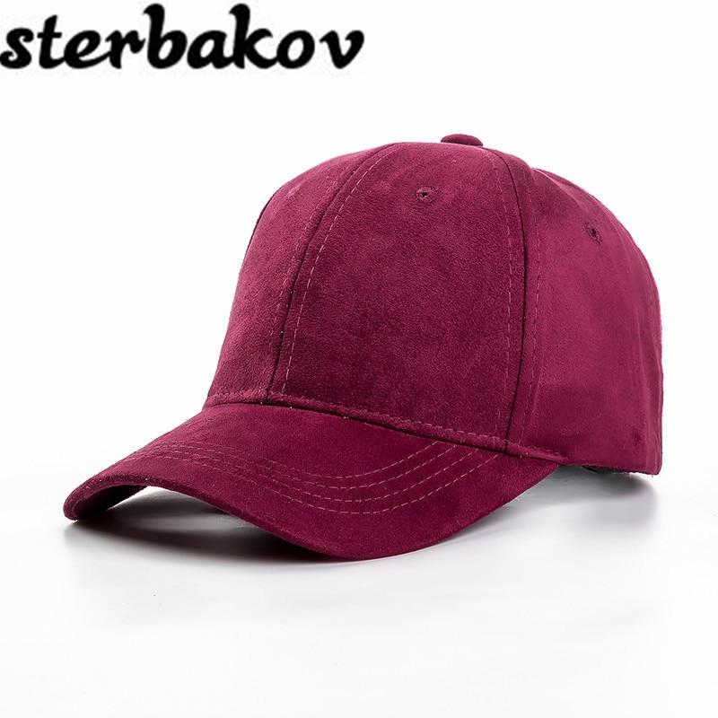 2016 Fashion Brand Snap Cap Womens Baseball Cap Street Hip Hop Caps Womens Suede Hats Black Gray