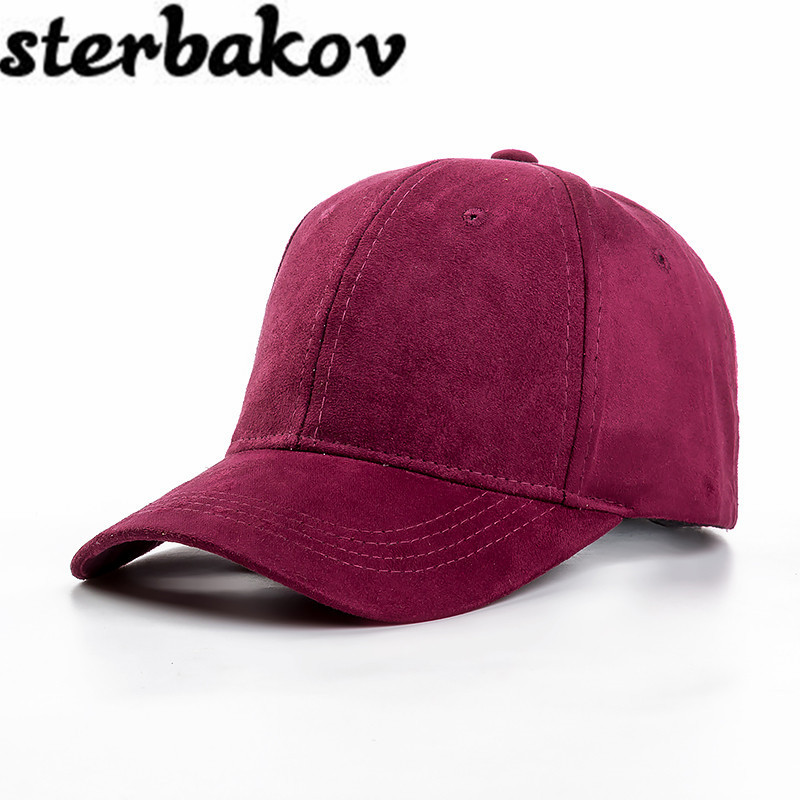 2016 very nice pure color suede suede hat baseball cap snapback men ladies hat casquette gorras chic ice cream color suede baseball hat