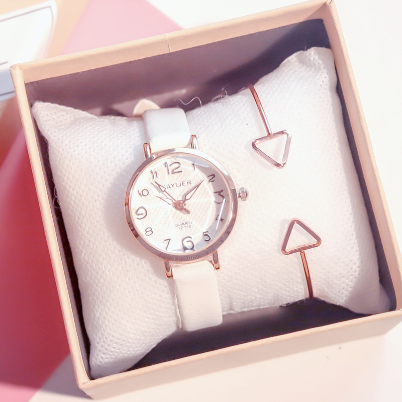 Cartoon Number Scale Women Fashion Watches Cutting Surface Design Luxury Female Wristwatches Small Ladies Quartz Leather Watch