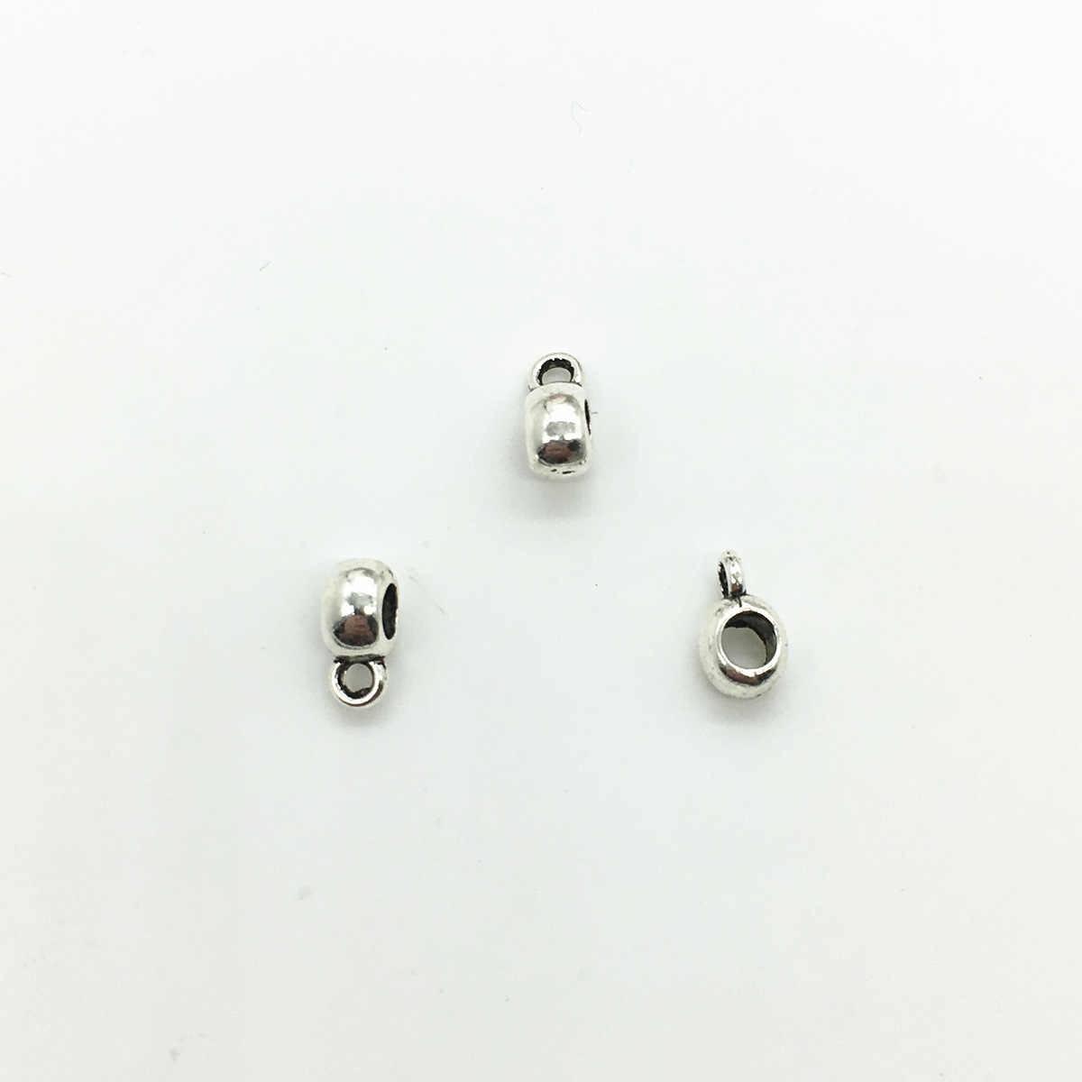 30 ชิ้น/ล็อตโบราณเงินลูกปัด 4*5*3mm Tassels End Caps Fit DIY ทำด้วยมือหนังสร้อยคอเครื่องประดับทำผลการค้นหา