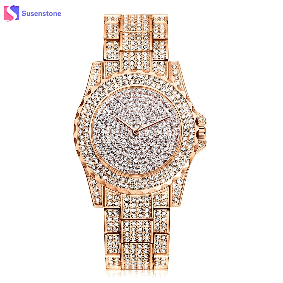 Top Brand Luxury Watches Women Quartz Wristwatch Clock Elegant Rose Gold Silver Stainless Steel Bracelet Watch Ladies Rhinestone dekabr fashion comfortable breathable soft genuine leather loafers shoes men high quality casual falts men oxfords size 38 48