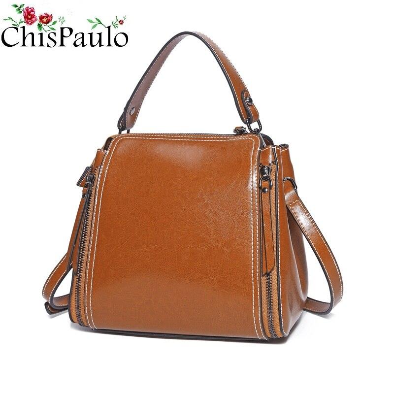 цена на Real 100% Genuine Leather Bags For Women 2018 Fashion Women's Handbags Ladies Shoulder Female Messenger Bags bolsa feminina N424