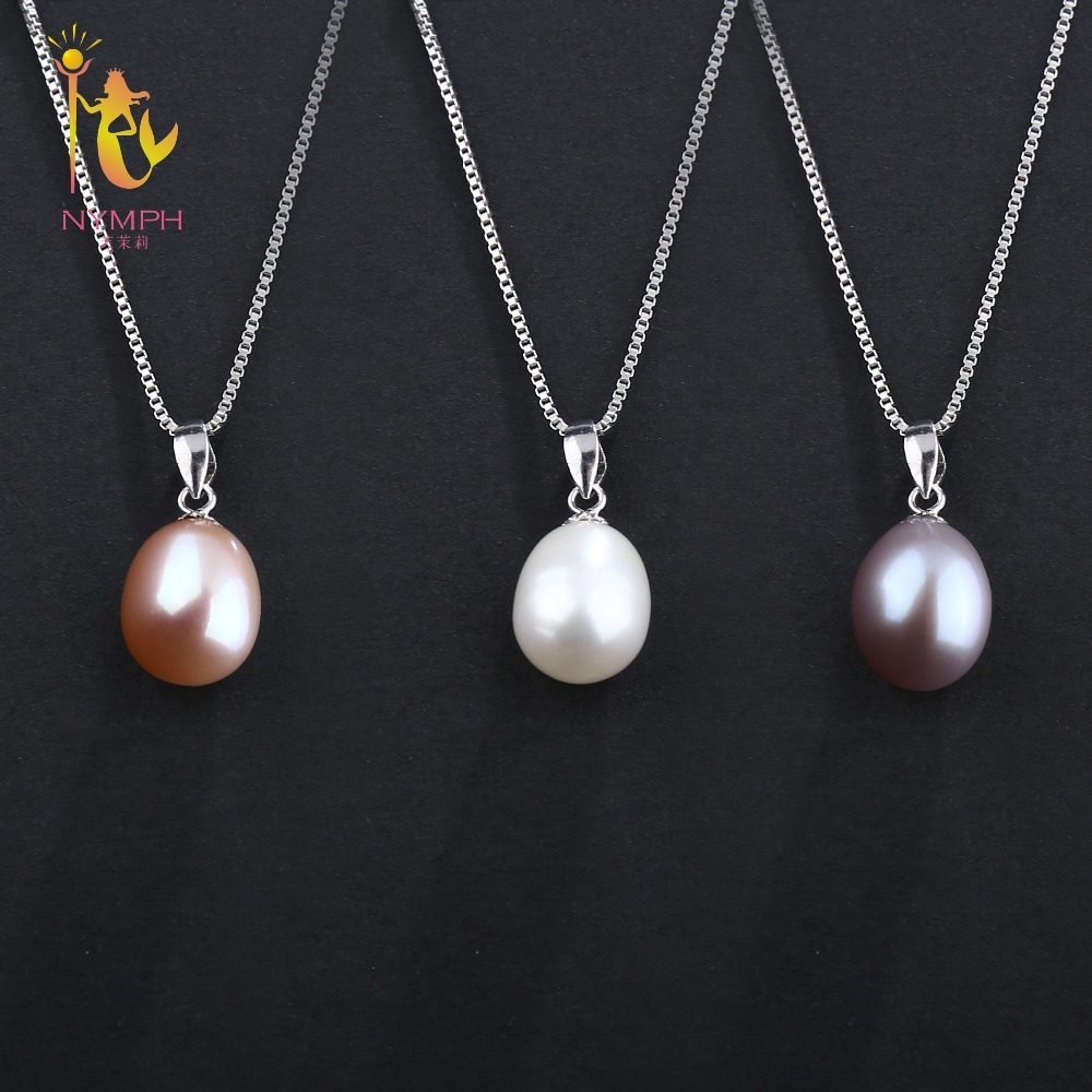 NYMPH pearl jewelry sets natural freshwater pearl pendant earrings s925 sterling silver party gift T219 NYMPH pearl jewelry sets natural freshwater pearl pendant earrings s925 sterling silver party gift T219