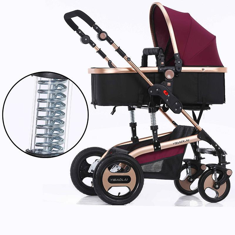 Baby Stroller 3 In 1 Single Seat Fashion Style Foldable ...