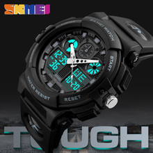 Купить с кэшбэком Relogio Masculino Luxury Brand Men's Watch Mens Sports Watches Quartz Digital LED Electronic Military Outdoor Watch Wristwatches