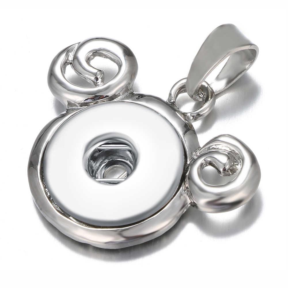 Новый изысканный металлический кулон с изображением совы может быть оснащен 18 мм кнопки женские ювелирные изделия отправить ожерелье длиной 60 мм WS40