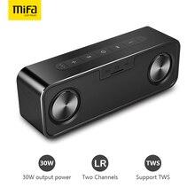 MIFA metalowy przenośny głośnik Bluetooth 30W z Super bas głośnik bezprzewodowy Bluetooth4.2 3D cyfrowy głośnik kolumnowy Boombox