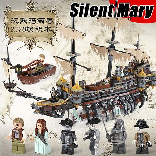 16042 2370pcs Piratas do Caribe Dead Men Tell No Tales Silencioso Mary Blocos Tijolos Compatível Com Bela 70142