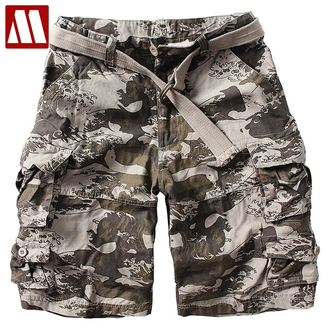 103770fb72 2019 New Summer fashion multi-pocket cargo men shorts cotton casual men's  shorts with belt S/M/L/XL/XXL/3XL 11 colors Big size
