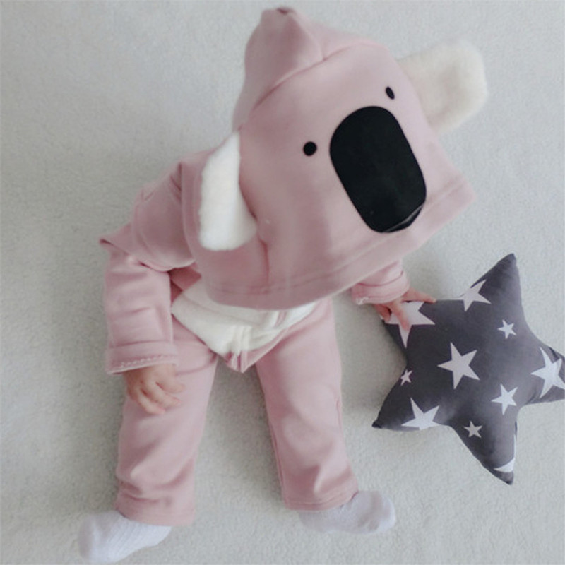 2016 New Baby rompers Newborn Cotton tracksuit Clothes Long Sleeve Cartoon Animal Koala Underwear Infant Boys Girls jumpsuit 2016 new newborn baby boys girls clothes rompers cotton tracksuit boys girls jumpsuit bebes infant long sleeve clothing overalls