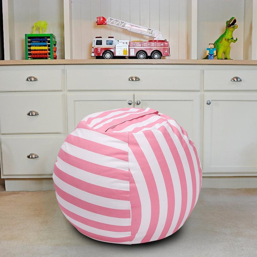 7 цветов набивная коробка животные Кресло-мешок, фасоль | Премиум детское плюшевое решение для хранения игрушек | доступно в 6 моделях - Цвет: 18inches pink