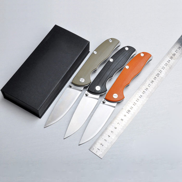 High Quality D2 blade G10 handle folding knife outdoor camping survival tool hunting tactical EDC knives outdoor camping tool d2 steel g10 stone quality worthy collection of small zhe knife