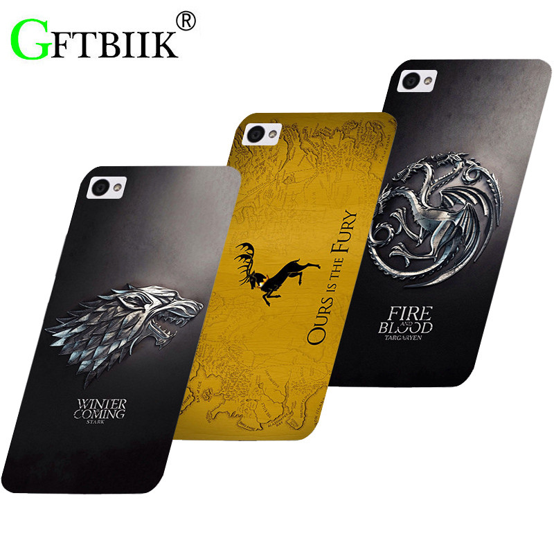 Cute Cartoon Case For Lenovo Sisley S90 S90T S90U S 90 Hard Plastic Pattern Shell Bag Fashion Printed Cover Game of Thrones 7