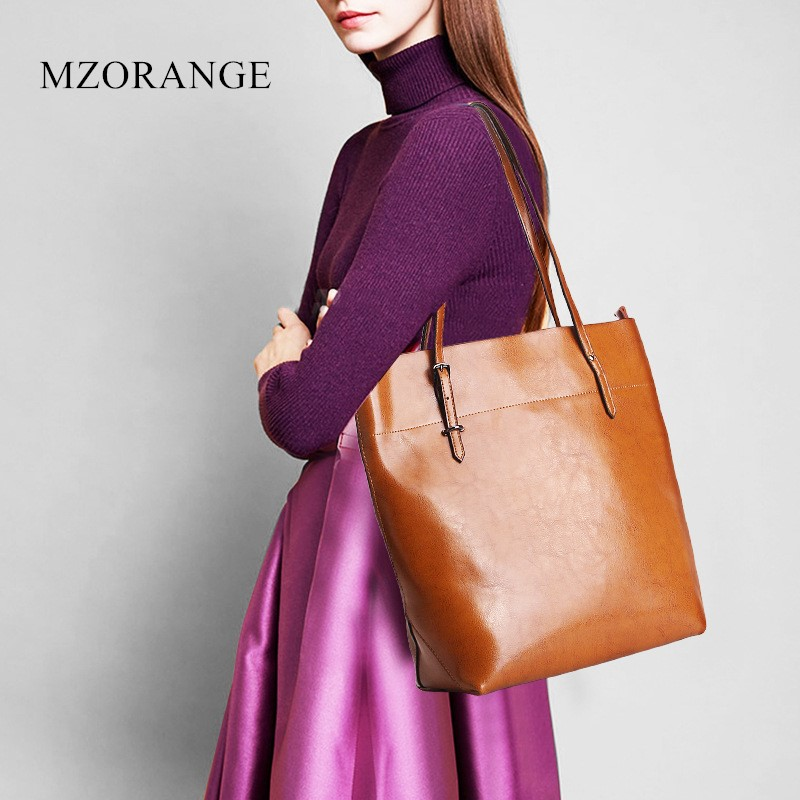 MZORANGE 2018 High Quality Leather Women Bags Big Handbag Fashion Large Capacity Ladies shopping bag Shoulder Bags New Arrivals 2018 new women bag ladies shoulder bag high quality pu leather ladies handbag large capacity tote big female shopping bag ll491
