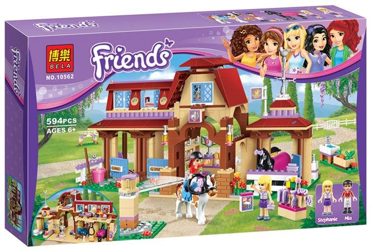 Ensembles de Club d'équitation de la série des amis heart lake 594 pièces compatibles avec des kits de blocs de construction modèle briques jouet pour les enfants